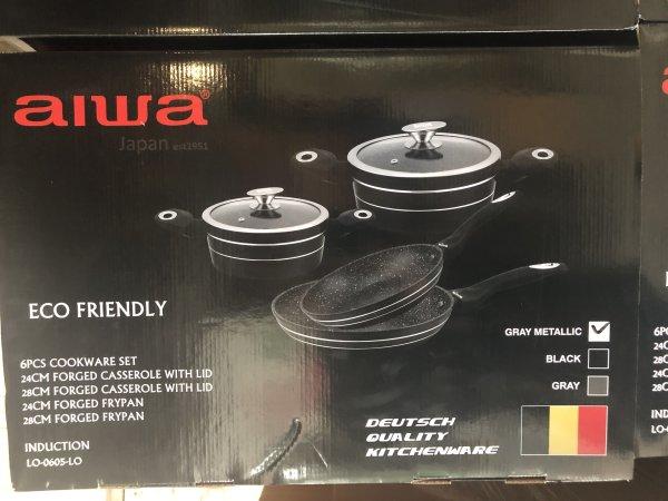AIWA 6 pcs cookware set Induction LO-0605-LO